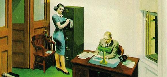 Hopper- ufficio di notte