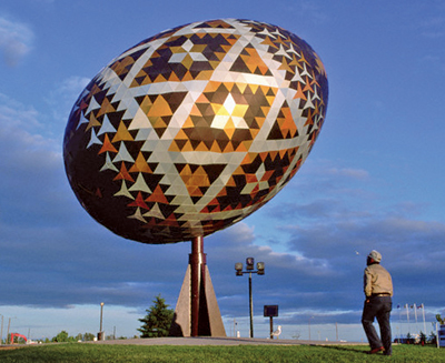 World's Largest Pysanka in Vegreville, Canada