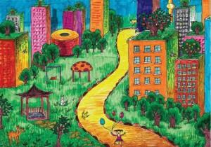 disegno-bimbi-città